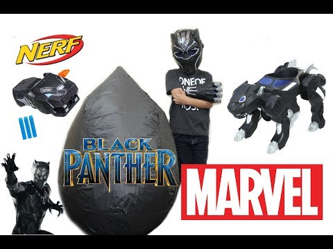 BLACK PANTHER MOVIE TOYS GIANT SURPRISE EGG | BLACK PANTHER GEAR TOYS