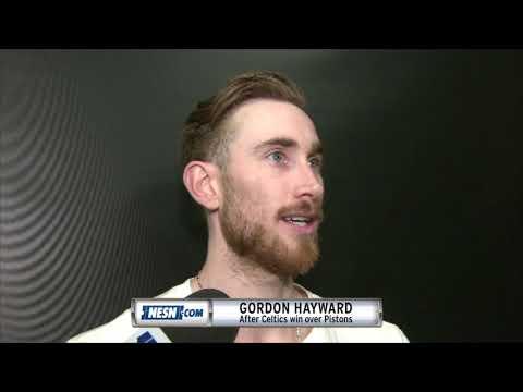 Video: Gordon Hayward reacts to Celtics win over Pistons