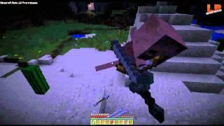 Minecraft 1.8 Gameplay German - 1 Nacht gegen Zombies / Das neue Kampfsystem!