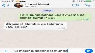 WhatsApp: Cristiano Ronaldo Saluda a Messi por su cumpleaños  Fútbol SocialComo casi todos sabrán Lionel Messi estuvo de cumpleaños hace unos días atrás, y la pagina deportiva '90Min' aprovechó la oportunidad y recreó una divertida conversación donde Cristiano Ronaldo decide saludar al crack argentino por sus gloriosos 30 años. *Síguenos en nuestras Redes Sociales:- Facebook Oficial del Canal: https://www.facebook.com/FutbolSocialOficial- Twitter Oficial del Canal: https://twitter.com/FutbolSocialNew- Date una vuelta por el Canal: http://www.youtube.com/subscription_center?add_user=FutbolSocialOficial- Música de fondo utilizada en este vídeo: Phases - Silent Partner- Vía: 90Min¡Y como siempre! No olviden suscribirse, darle manita arriba y compartir si les gustó el vídeo, enserio que nos ayudarían muchísimo. Estaremos publicando más notas del Fútbol Mundial en los próximos días. ¡Gracias por todo cracks! ¡Saludos Sociales! :)