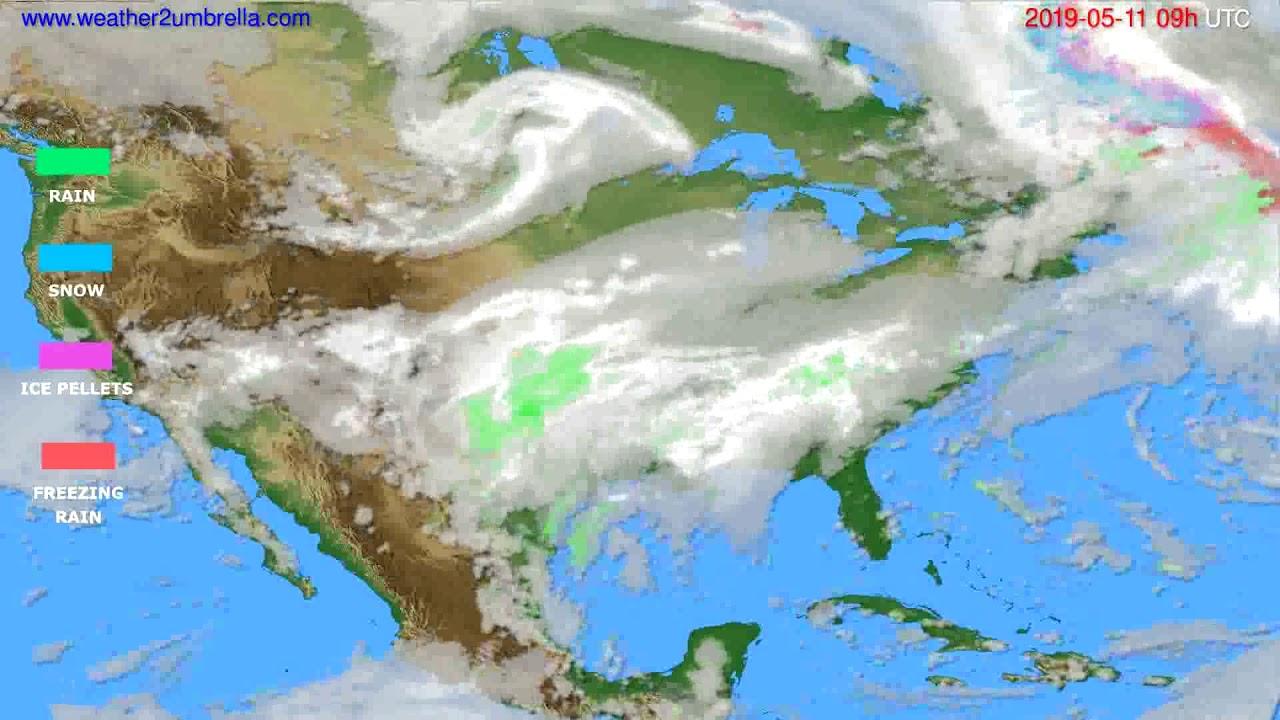 Precipitation forecast USA & Canada // modelrun: 12h UTC 2019-05-09
