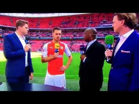 Arsenal v Man City – Aaron Ramsey Interview