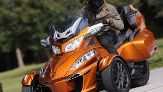 7. 2014 Can-Am Spyder Roadster RT First Ride - MotoUSA