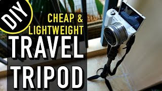 DIY Travel Hack: CHEAP & LIGHTWEIGHT TRAVEL TRIPOD!! full download video download mp3 download music download