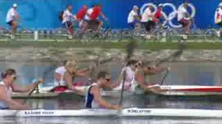 It's glory for the Hungarian women's K2 500M canoe/kayak team at the Beijing 2008 Summer Olympic Games.http://www.olympic.org/canoe-kayak-flatwater-k-2-500m-kayak-double-womenhttp://www.olympic.org/beijing-2008-summer-olympicshttp://www.olympic.org/hungary