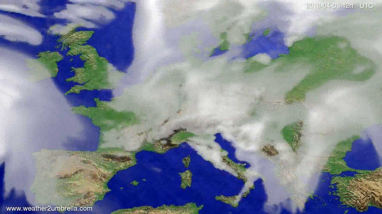 Cloud forecast Europe 2018-04-01