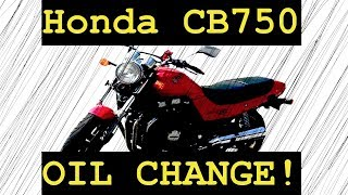 4. How to do an oil change on a motorcycle (2003 Honda CB750)
