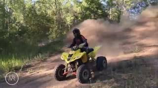 10. Suzuki LTZ400 Laps on Sand Track | Raw Video