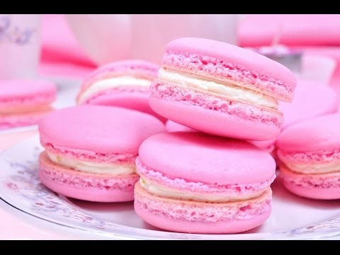 FoodTravelTVChannel - มาการองบัตเตอร์ครีม Buttercream Macaron - Pink Macaron มาการองหรือมากาฮอง ขนมหวานหน้าตาน่ารักที่หลายๆ...