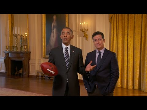 President Obama Appeared On The Late Show After The Super Bowl!