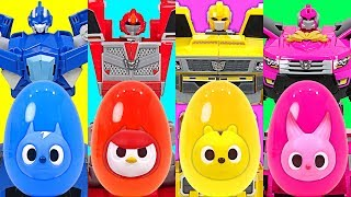 Video Dinosaur in an eggs turn into a gift?? Miniforce's giant surprise egg!! - DuDuPopTOY MP3, 3GP, MP4, WEBM, AVI, FLV Juli 2018