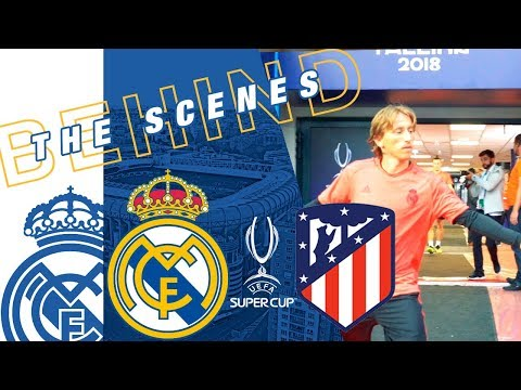 Real Madrid vs Atlético | RAMOS, BALE and co. train in Tallinn!