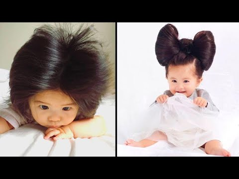 Baby Girl With Long Locks Is Professional Hair Model