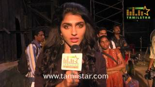 Dhansika at Vizhithiru Movie Shooting Spot