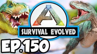ARK: Survival Evolved Ep.150 - EPIC EASY, MEDIUM, & HARD BOSS BATTLES!!! (Modded Dinosaurs Gameplay)