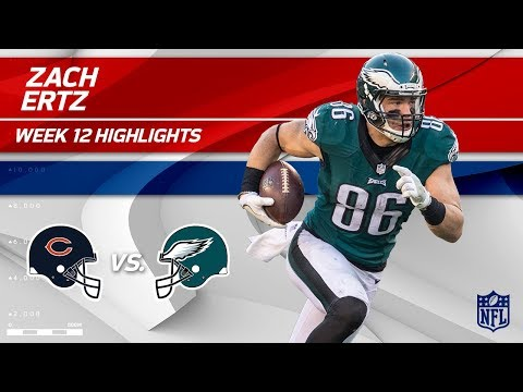 Video: Zach Ertz's 10 Catches, 103 Yds & 1 TD vs. Chicago! | Bears vs. Eagles | Wk 12 Player Highlights
