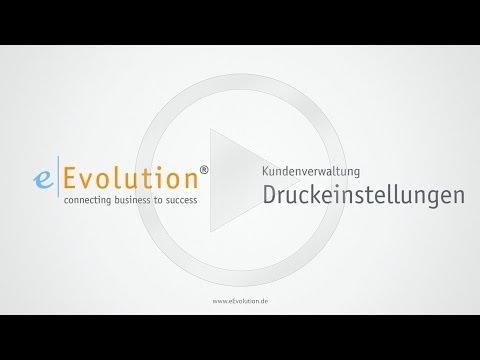 eEvolution – Druckvorlagen für den Kunden festlegen
