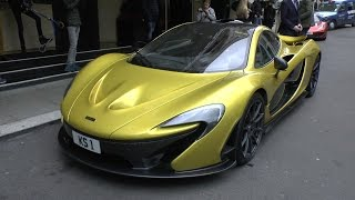 I've spotted this incredible one of a kind Austin Yellow (MSO Colour) McLaren P1 in London! I managed to catch it driving around London as well as some detai...