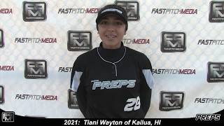 2021 Tiani Wayton Speedy Shortstop and Outfield Softball Skills Video - Easton Preps