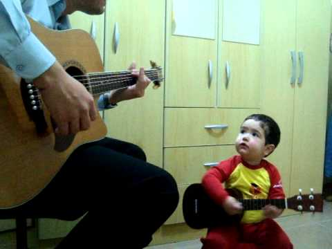 2YearOld Boy  His Dad Perform The Beatles classic  Don  t Let Me