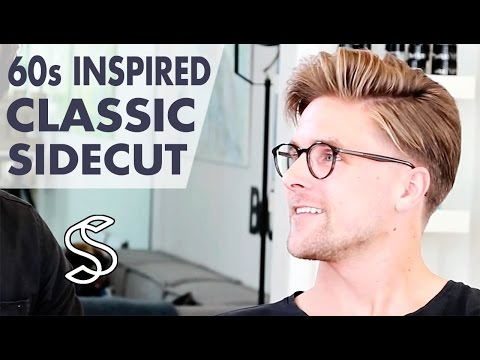 60s Inspired Hairstyle for Men ★ Classic Side Parting ★ Men's sidecut hair