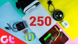TOP 15 BEST Gadgets Under Rs. 250 (Hindi- हिन्दी) | GT Hindi