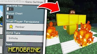What Happens if You Spawn Herobrine on the Herobrine Seed in Minecraft Pocket Edition?
