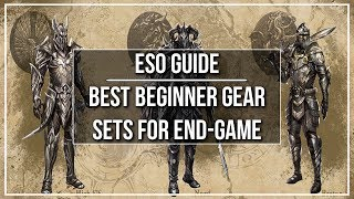 This guide for the Elder Scrolls Online covers the best beginner gear sets for end game (CP 160+). I'll show you the best combination of crafted gear, and then show you how to upgrade your gear using overland and monster sets. Healer upgrades though do require grinding dungeons.TIME STAMPSNightblade: 2:55Sorcerer: 12:08Templar: 19:55Dragon Knight: 27:14Warden: 34:57Each section is so long because I fully explained the gear sets within each section; I did not want to assume you were going to sit through all of the different classes. DO NOTE: The nightblade tank gear is slightly wrong. I would recommend running 5 Lamae and 4 Hist bark (just to keep with the theme of the gear). Nightblade tanks dont need the major evasion while blocking because they have it baked into their kit. This guide is targeted towards new players hitting end-game (CP 160+) who want to engage in veteran dungeons, maybe possibly even one of the easier normal trials, but mainly dungeons. I'm not saying you can run vHOF or vMOL with these setups, at all (except maybe the healing setup). Hope you all enjoy!Written Version: https://dottzgaming.com/2017/07/25/best-beginner-gear-sets-for-end-game/Watch Next - ESO COMPLETE BEGINNER GUIDE: https://www.youtube.com/watch?v=yHZF9PLlAOQ-----------------------------------------------------FOLLOW me on Twitter: https://twitter.com/DottzGamingLIKE me on Facebook: https://www.facebook.com/dottzgamingFEEL the Pulse - Catalyst Energy Mints: https://www.catalystmints.com/store?t=dottzgamingBUY CHEAP Video Games: https://www.g2a.com/r/dottzgaming JOIN Curse's Union For Gamers: https://www.unionforgamers.com/apply?referral=lch0v7uxswg3f4PC Specs & Peripherals: http://pastebin.com/xkfeAVWpDISCORD Server: https://discord.gg/abJm2NfDONATE to Support the Channel: https://youtube.streamlabs.com/dottzgaming#/SUPPORT the channel through Patreon: https://www.patreon.com/dottzgaming -----------------------------------------------------Music: ESO Morrowind Soundtrack by Zenima
