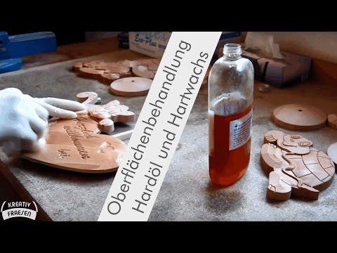 Oberflächenbehandlung mit Hartöl und Hartwachs