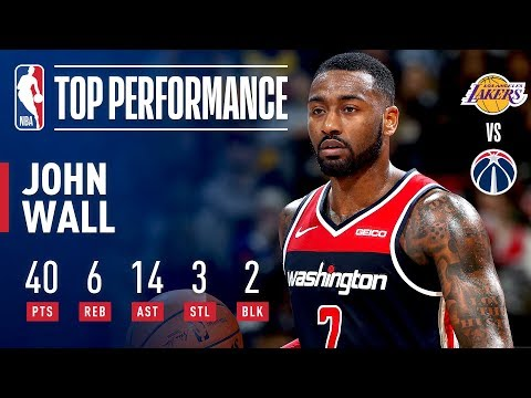 Video: John Wall's 40-Point Double-Double Guides Washington To Win Over Lakers | December 16, 2018