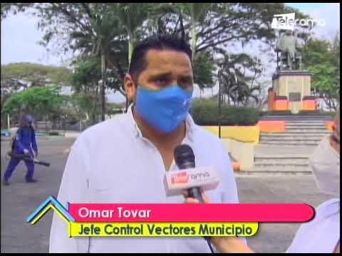 Se realiza desinfección y fumigación en 11 parques de Guayaquil