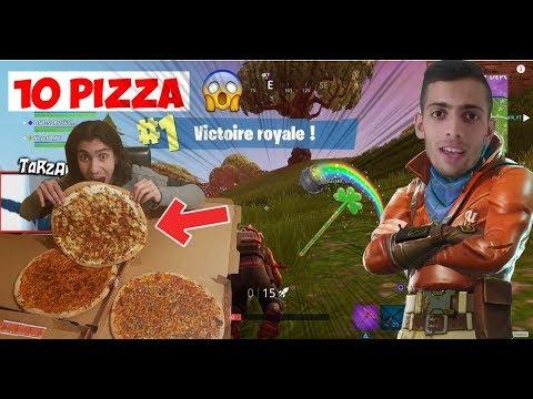 J'ACHÈTE 10 PIZZA SI JE NE FAIS PAS TOP1 SUR FORTNITE BATTLE ROYALE !