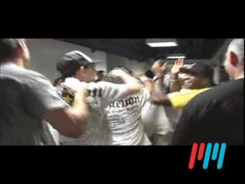 Fabricio Werdum Celebrates Backstage after tapping Fedor Emelianenko
