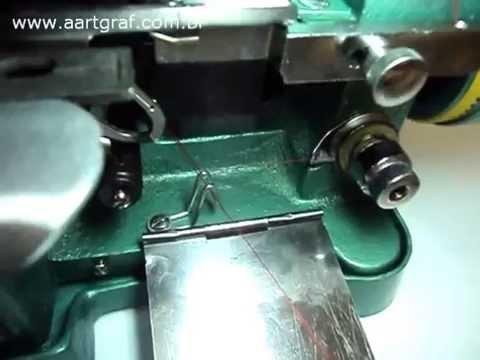 Como colocar linha em Overlock Dragonfly GN1-6D