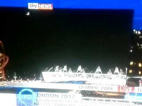 ****UFO On Live News! Olympic Ceremony! 2012 !**** (BBH)