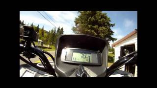9. Suzuki king quad 750 axi 2009 top speed filmed with gopro hero hd