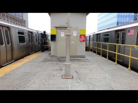 R160A (N) Train and R188 (7) Train Departing Queensboro Plaza (видео)