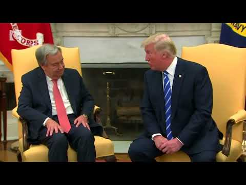 U.S. President says the United Nations has 'tremendous potential' during a meeting Secretary-General Antonio Guterres at the White House.