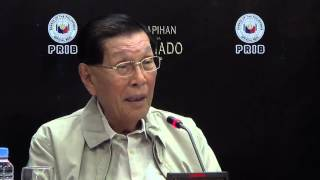 Enrile not satisfied with Senate's accomplishment