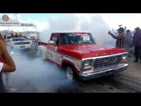 Best Race Ever Moto Hayabuza 1300cc twin turbo vs 79 Ford Mass Flow Carrera Arrancones Mejores Mundo
