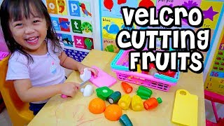 Video Toy Cutting Sayuran Buah Velcro Mengiris | Playtime FUN dengan Elise Vlog | Anak-anak Mainkan MP3, 3GP, MP4, WEBM, AVI, FLV Juni 2017
