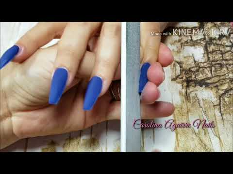 Uñas  Acrilicas  Azul Rey / Como evitar levantamiento en uñas acrilicas