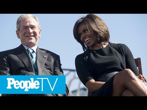 Michelle Obama And George W. Bush's Adorable Friendship Over The Years   PeopleTV