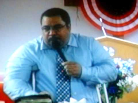 Preacher/evang.  a live testimony that God saved him from hell. (partial testimony)