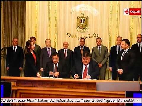 رئيس الوزراء يشهد توقيع عقد توريد وتصنيع 1300 عربة سكة حديد جديدة للركاب بين هيئة سكك حديد مصر