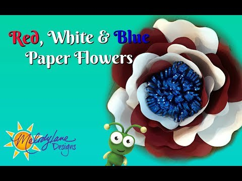 Red, White & Blue Paper Flower