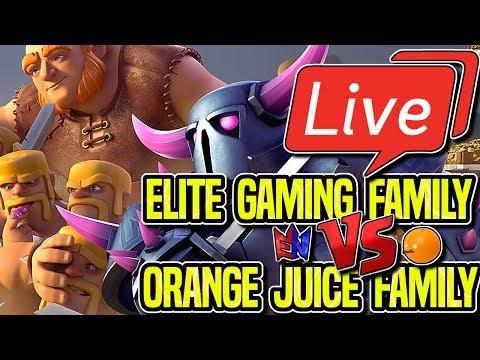 LIVESTREAM | ELITE GAMING vs ORANGE JUICE | 15 v 15 TOURNAMENT | Clash Royale