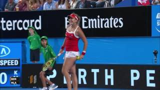 Highlights from the Mladenovic/Bencic match that Mladenovic of Switzerland won.