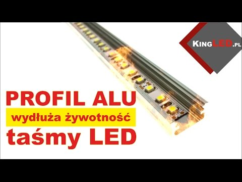 Aluminiowy profil - jak wydłuża żywotnośc taśmy LED -  Poradnik od KINGLED pl