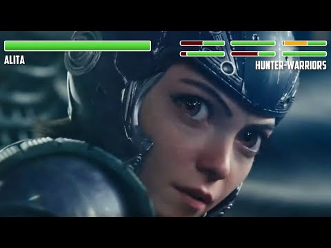 Alita Motorball Fight WITH HEALTHBARS (PART 1) | HD | Alita: Battle Angel